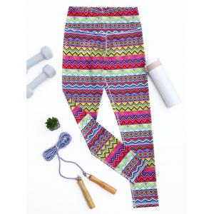 Leggings sportifs, tunique et multicolores -