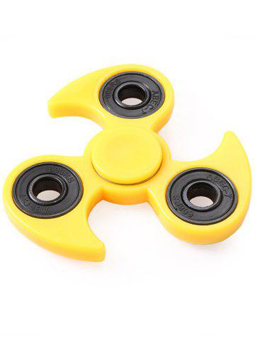 Fidget Toy Flying Wheel Gyro Hand Tri-Spinner - Yellow - 5.8*5.8cm