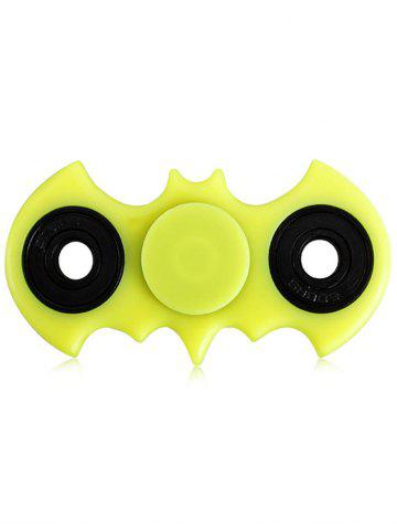 Best Anti-Stress Fiddle Toy Bat Fidget Spinner YELLOW GREEN