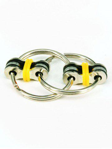 Key Ring Stress Relief Focus Toy Fidget Spinner - Yellow - 17