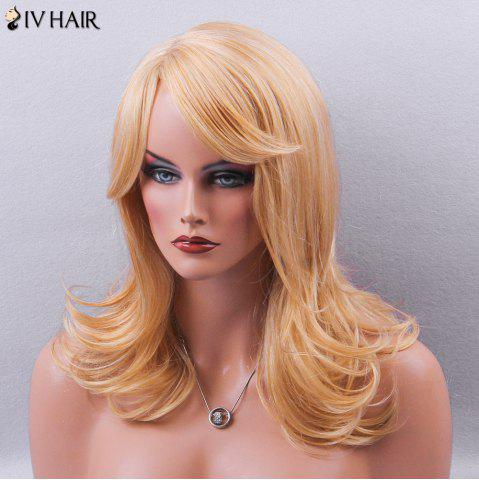 New Siv Hair Side Bang Silky Long Straight Human Hair Wig - GOLDEN  Mobile