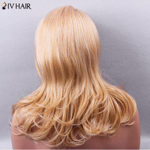 Trendy Siv Hair Side Bang Silky Long Straight Human Hair Wig - GOLDEN  Mobile