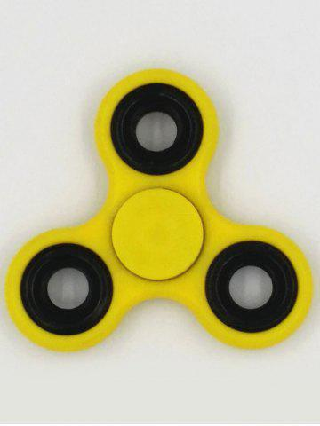 Chic Anti-Stress Toys Rotating Triangle Fidget Spinner YELLOW