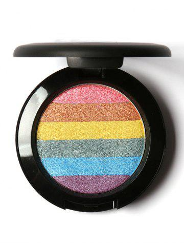 Soft Mineral Rainbow Palette Highlighting Shimmer Powder - Colorful