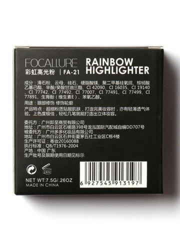 Hot Shimmer Soft Mineral Rainbow Palette Highlighter Powder - COLORFUL  Mobile