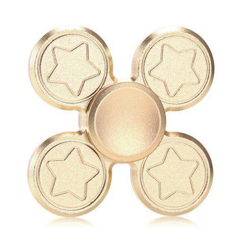 Buy Finger Metal Fidget Spinner Toy with Star Print GOLDEN 6.5*6.5CM
