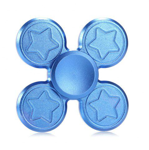 Unique Finger Metal Fidget Spinner Toy with Star Print