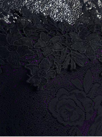 Outfit Lace Sleeveless Pencil Sheath Formal Dress - XL PURPLE Mobile