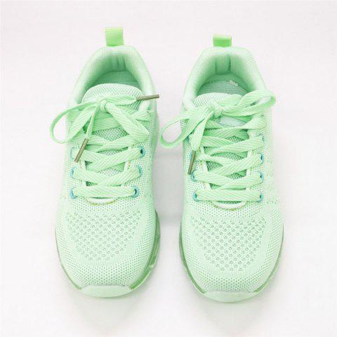 Outfit Mesh Breathable Athletic Shoes - 38 LIGHT GREEN Mobile