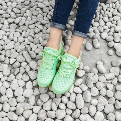 Fancy Mesh Breathable Athletic Shoes - 38 LIGHT GREEN Mobile