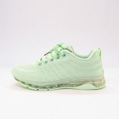 Chic Mesh Breathable Athletic Shoes - 38 LIGHT GREEN Mobile