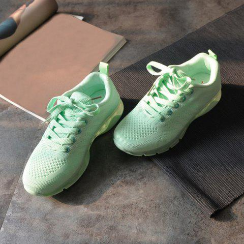 Shops Mesh Breathable Athletic Shoes - 38 LIGHT GREEN Mobile
