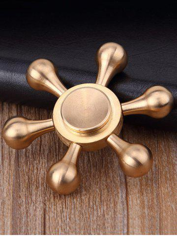 Fancy Stress Relief Focus Toy Rudder Fidget Spinner COPPER COLOR