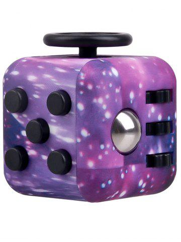 New Novelty EDC Toy Stress Relief Fidget Magic Cube PURPLE