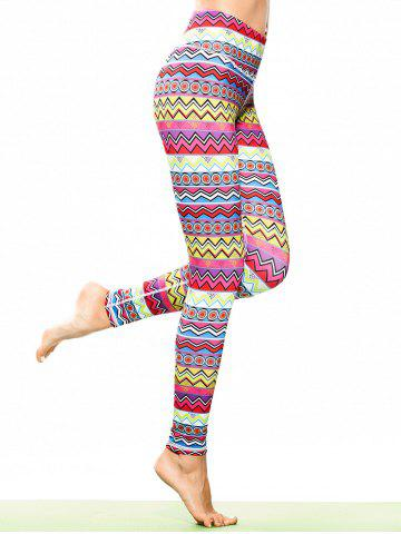 Tribal Print Skinny Sporty Leggings