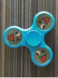 Smiling Face Stree Relief Focus Toy Triangle Fidget Spinner