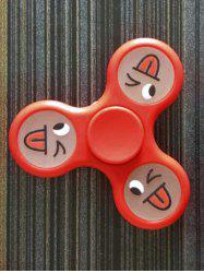 Smiling Face Stree Relief Focus Toy Triangle Fidget Spinner -