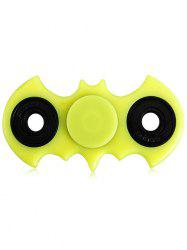 Anti-Stress Fiddle Toy Bat Fidget Spinner - YELLOW GREEN