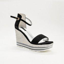 Wedge Heel Ankle Wrap Sandals