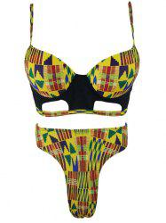 High Waist Tribal Underwire Bikini Set