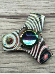 Stress Relief Toy Colorful Triangle Fidget Spinner - STRIPE