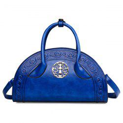Embossed Semi Circle Shaped Handbag