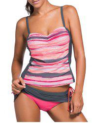 Scrunch Side Underwire Push Up Tankini Set -