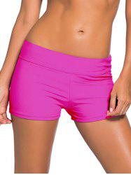 Mid-Waist Boyleg Shorts - Rose Rouge S