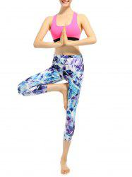 Sporty Capri High Waist Pattern Leggings
