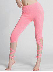 High Waisted Lace Up Gym Leggings -