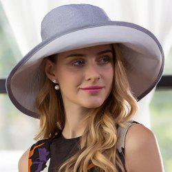 Cotton Blended Pinstripe Big Floppy Sun Hat