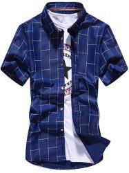 Button Up Plaid Pattern Shirt