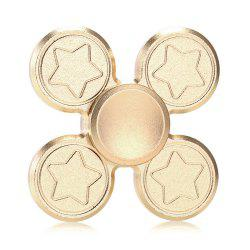Finger Metal Fidget Spinner Toy with Star Print - GOLDEN 6.5*6.5CM