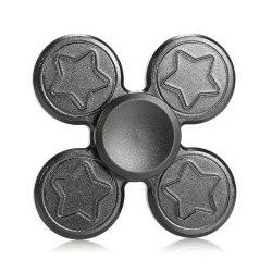 Finger Metal Fidget Spinner Toy with Star Print