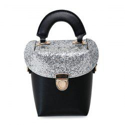 Push Lock Sequin Panel Crossbody Bag