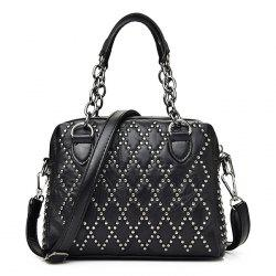 Punk Rivet Chain Tote Bag