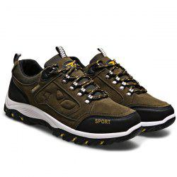 Metal Embellishment Suede Athletic Shoes