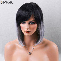 Siv Hair Medium Straight Bob Side Bang Human Hair Wig