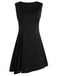 Sleeveless A Line Two Tone Dress -