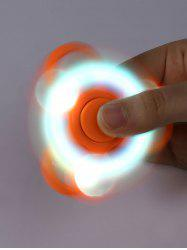 Flash Triangle Finger Toy Fidget Spinner - ORANGE