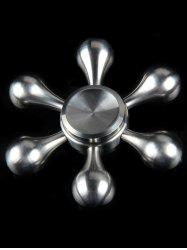 Flower Shape Stainless Steel Stress Relief Gyro Finger Spinner