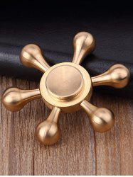 Stress Relief Focus Toy Rudder Fidget Spinner - COPPER COLOR