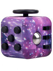 Novelty EDC Toy Stress Relief Fidget Magic Cube - PURPLE