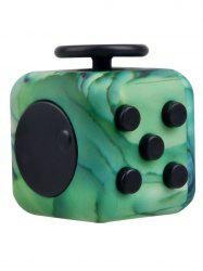 Novelty Faux Jade Fidget Toy Stress Relief Rubik's Cube - GREEN