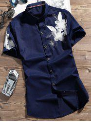 Button Up Flower Printed Shirt