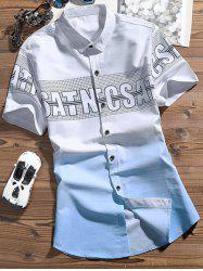 Ombre Color Graphic Pattern Shirt