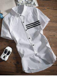 Button Up Striped Design Shirt