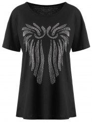 Short Sleeve Plus Size Beaded Top