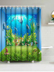 Sea World Animal Print Water Resistant Shower Curtain