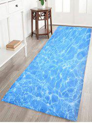 Water Wave Print Bathroom Skid Resistant Bathroom Rug